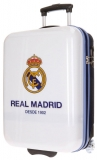 Cestovný kufor ABS Real Madrid club white 55 cm