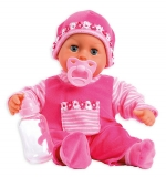 Bábika Bayer First Words Baby 38 cm pink