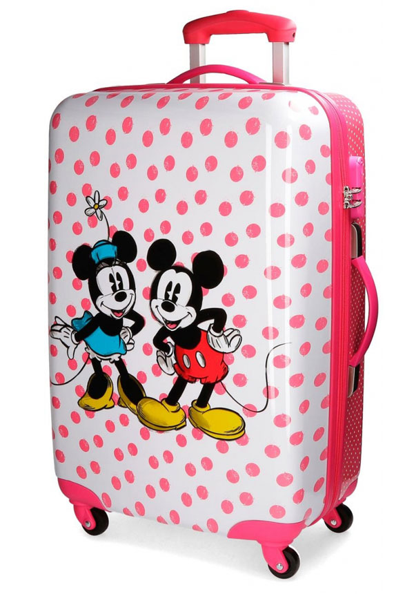 a8f6af5f895ec ABS Cestovný kufor Mickey Mouse a Minnie Dots 68 cm