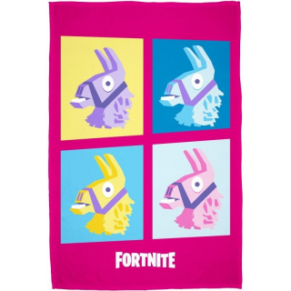 Fleece deka Fortnite Lama pink