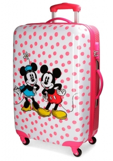 ABS Cestovný kufor Mickey Mouse a Minnie Dots 68 cm