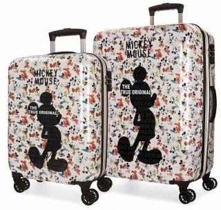 ffa354888df67 ABS Cestovné kufre Mickey True Original 54/69 SADA empty