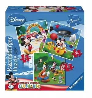 Puzzle Mickey Mouse 3v1